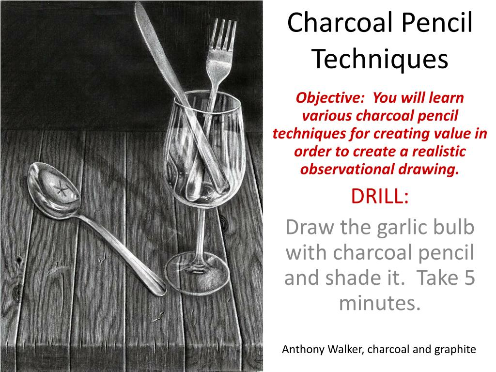 ppt charcoal pencil techniques powerpoint presentation id 2332790