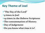 key theme of joel