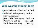 who was the prophet joel