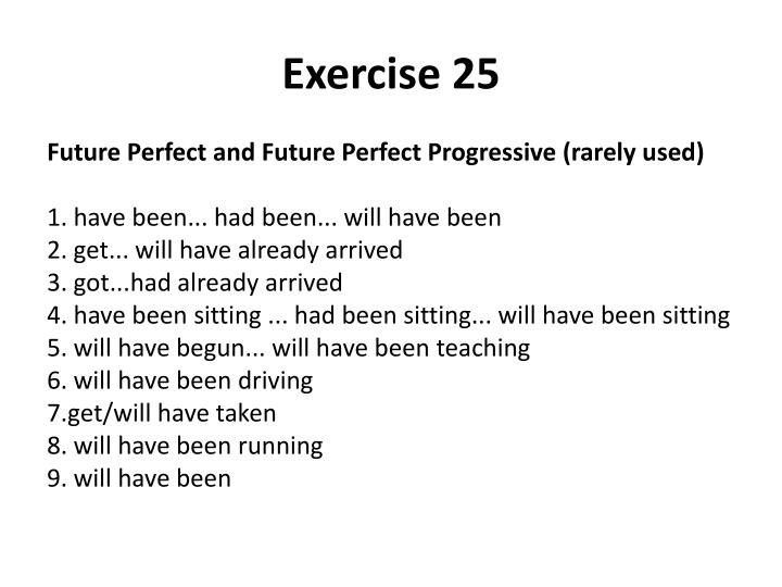 Exercise 25