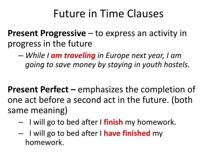 Future in Time Clauses