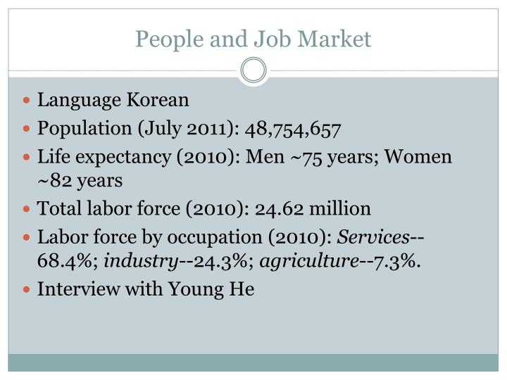 People and Job Market