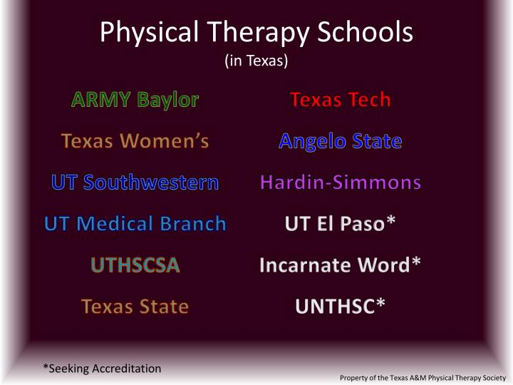 Ppt Physical Therapy Schools In Texas Powerpoint Presentation