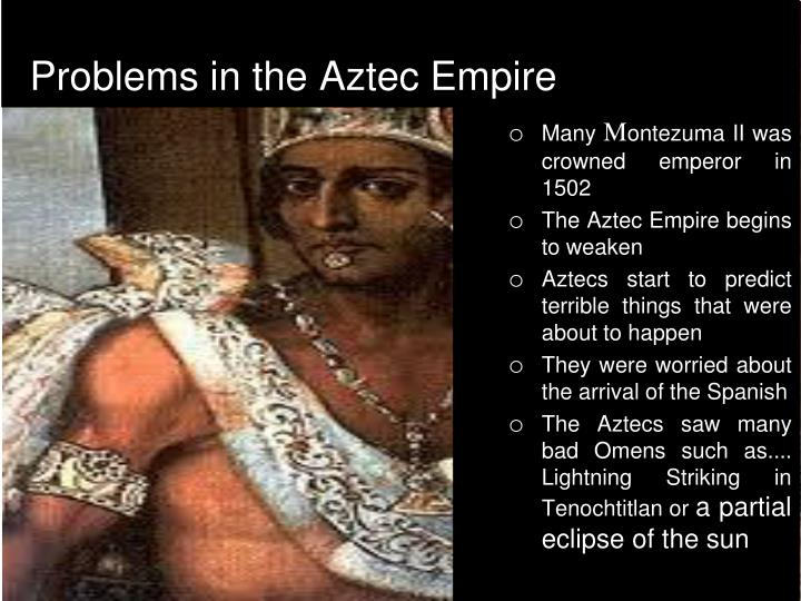 the defeat of the aztec empire The aztec empire outnumbered the spanish greatly, but somehow they were defeated were the spanish troops far more equipped with deadlier weapons or did the spanish hold a secret weapon that destroyed the empire.