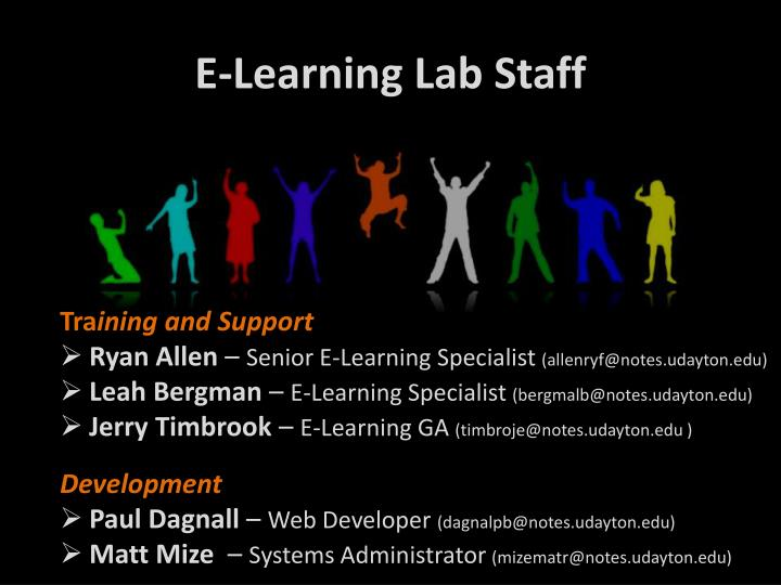 E-Learning Lab Staff