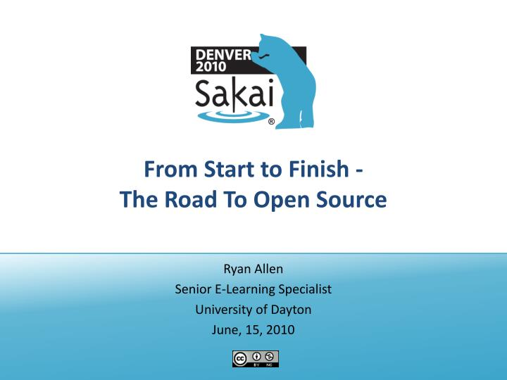 From start to finish the road to open source