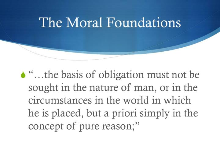 The Moral Foundations