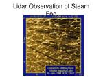 lidar observation of steam fog