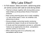 why lake effect