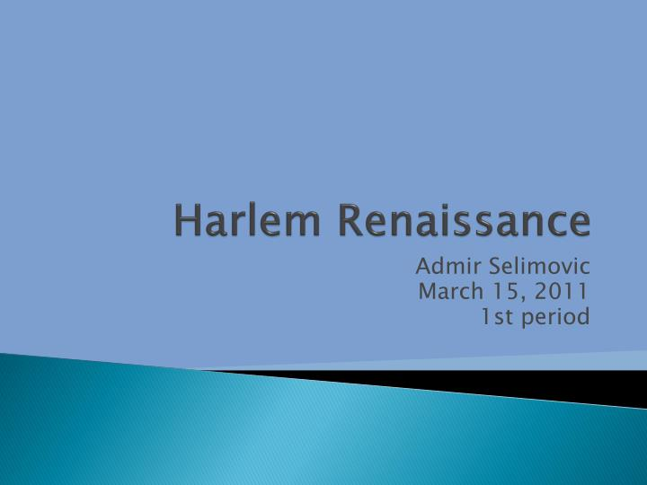 harlem renaissance a blossoming of african