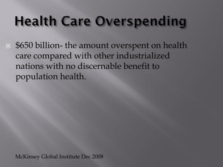 Health Care Overspending