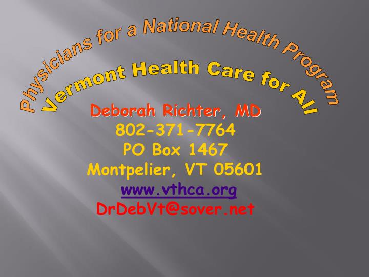 Physicians for a National Health Program