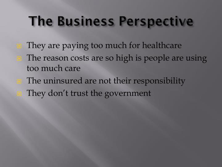 The Business Perspective