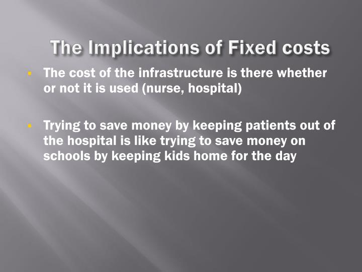 The Implications of Fixed costs