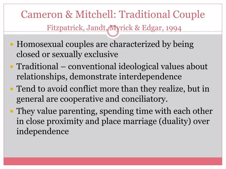 Cameron & Mitchell: Traditional Couple