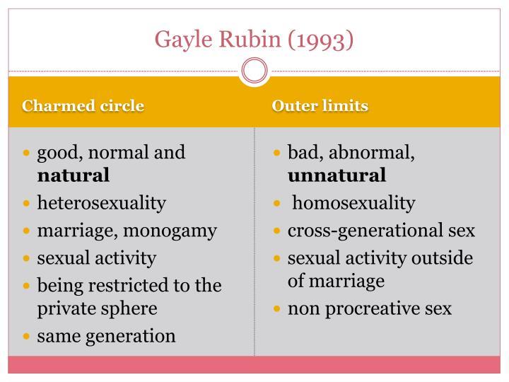 Gayle Rubin (1993)