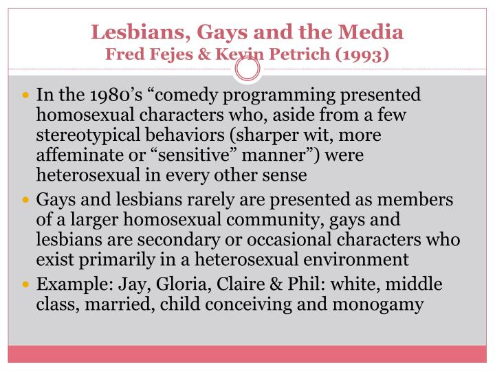 Lesbians, Gays and the Media