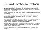 issues and expectation of employers