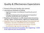 quality effectiveness expectations