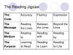 the reading jigsaw