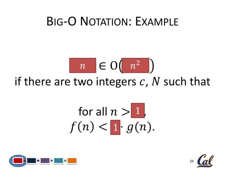 Big-O Notation: Example