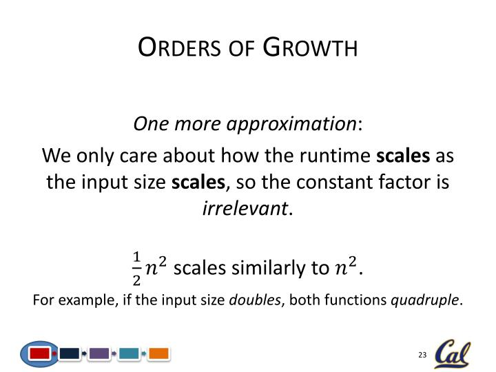 Orders of Growth