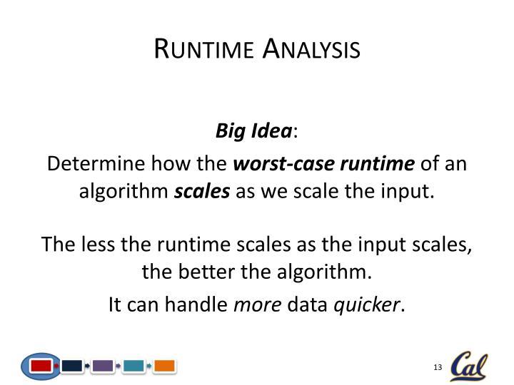 Runtime Analysis