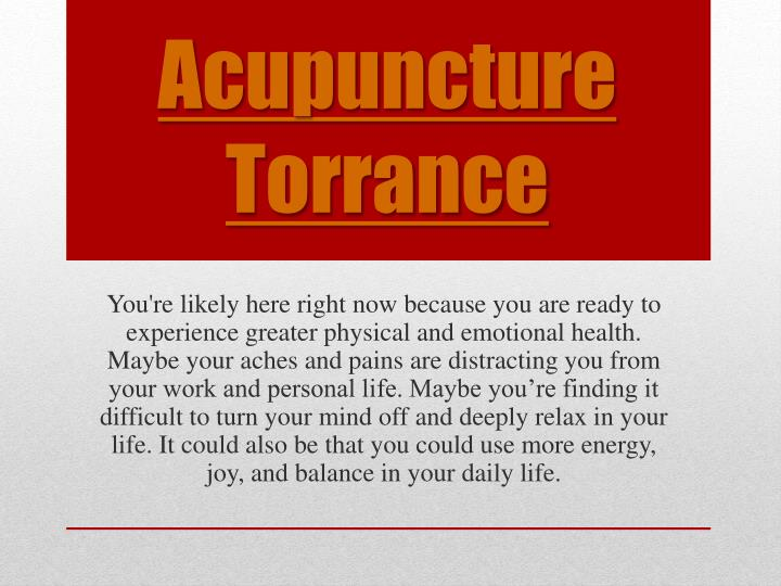 acupuncture torrance n.