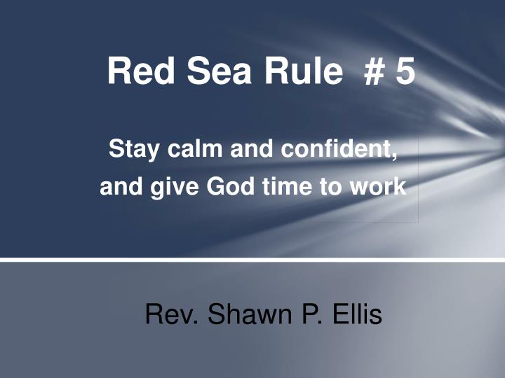 red sea rule 5