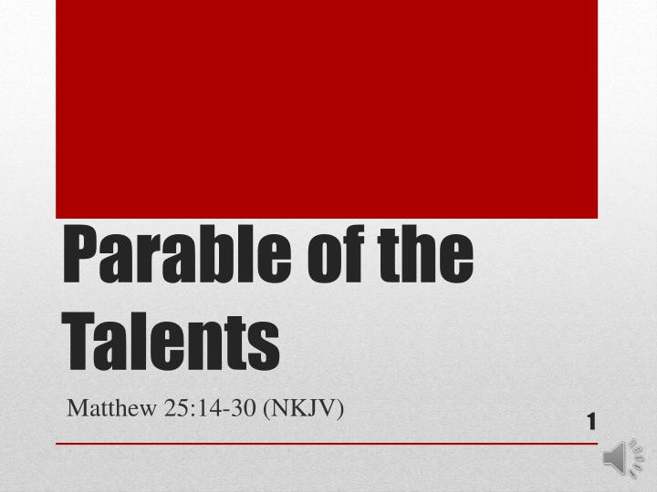parable of the talents n.
