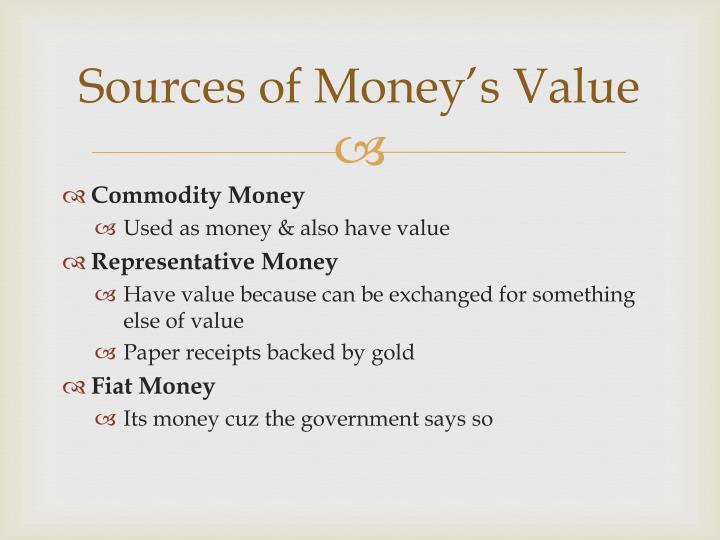 Sources of Money's Value