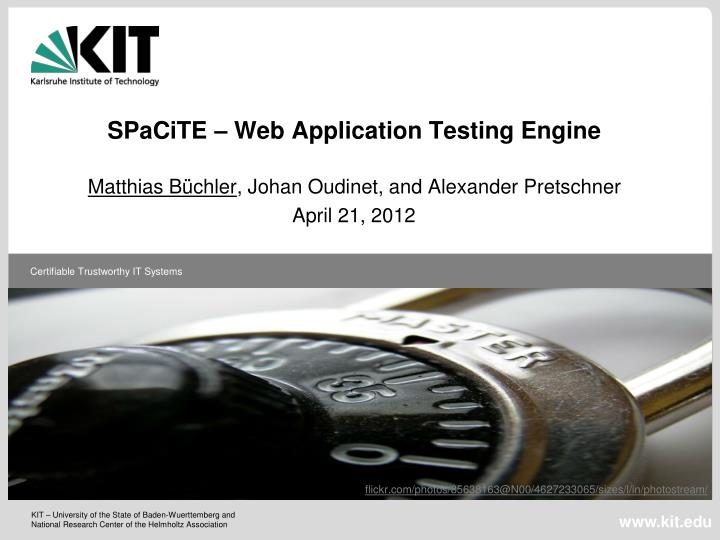 spacite web application testing engine n.