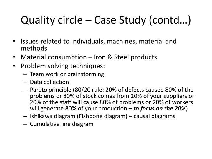 Quality circle – Case