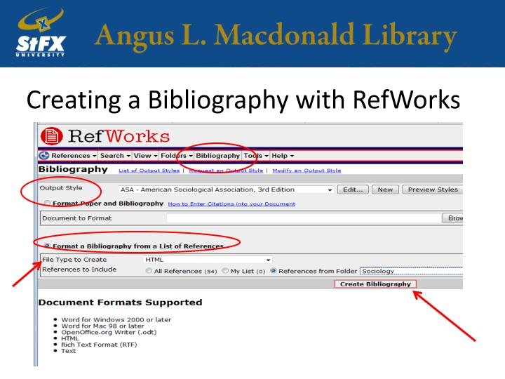 Creating a Bibliography with