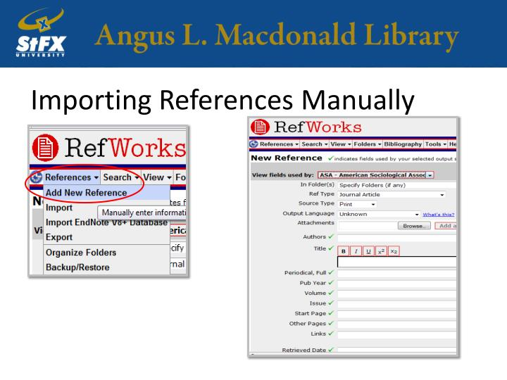 Importing References