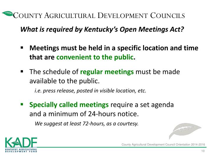 County Agricultural Development Councils