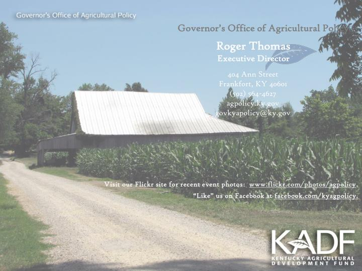 Governor's Office of Agricultural Policy