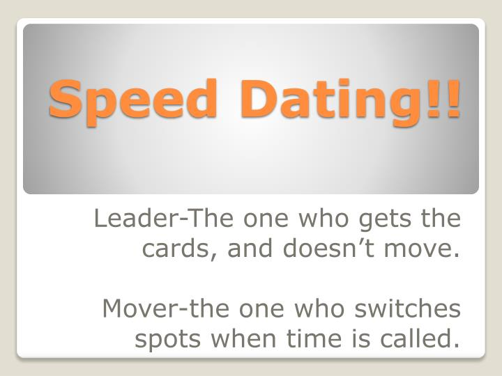 speed dating powerpoint