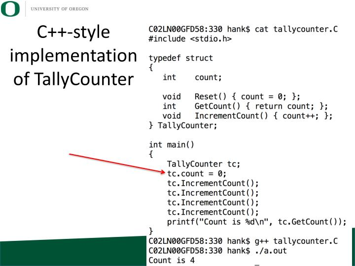 C++-style implementation of