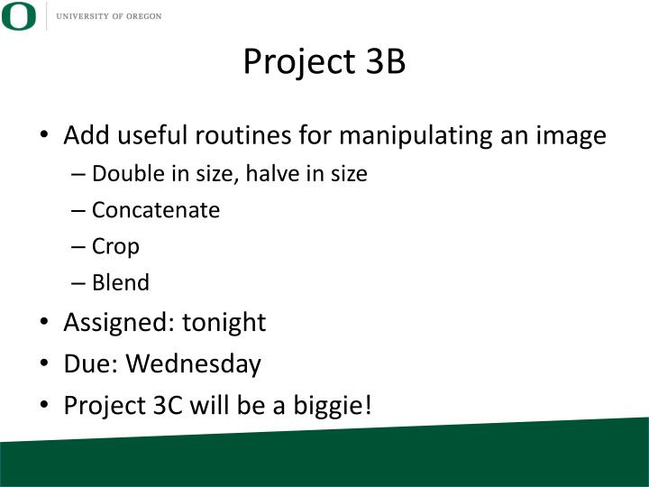 Project 3B