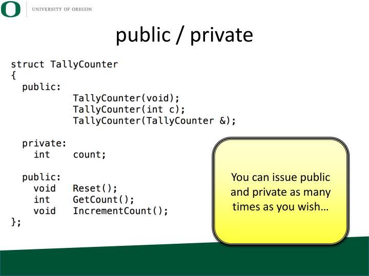 public / private