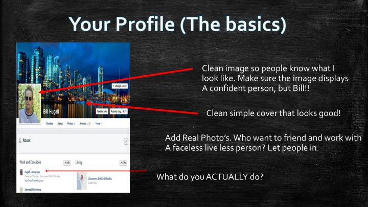Your Profile (The basics)