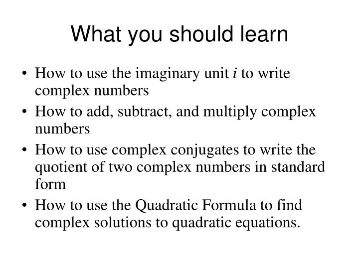 Ppt Section 15 Complex Numbers Powerpoint Presentation Id2334826
