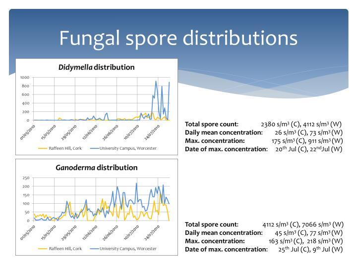 Fungal spore distributions