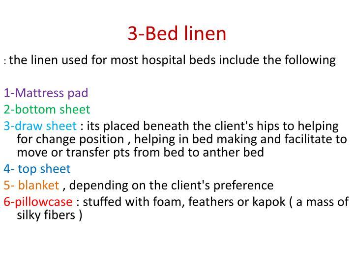 3-Bed linen