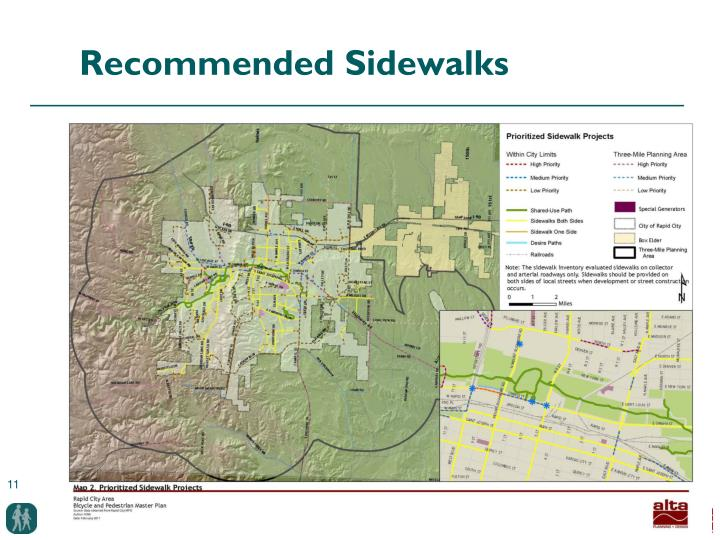 Recommended Sidewalks