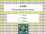 verbs the heartbeat of the sentence