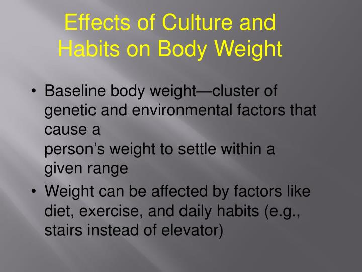 Effects of Culture and