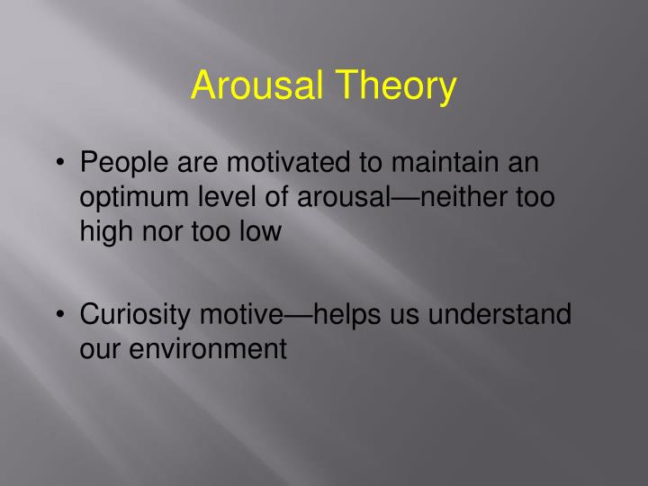 Arousal Theory