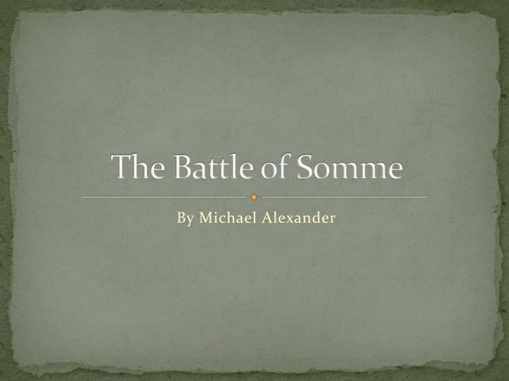 the battle of somme n.